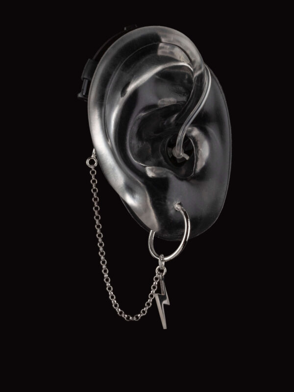 Bolt design of Deafmetal hearing aid or cochlear implant hearing aid jewelry