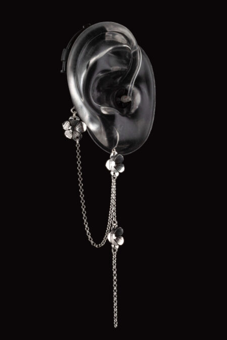 Vine design of Deafmetal hearing aid or cochlear implant jewelry