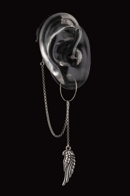 Wings design of Deafmetal hearing aid or cochlear implant jewelry