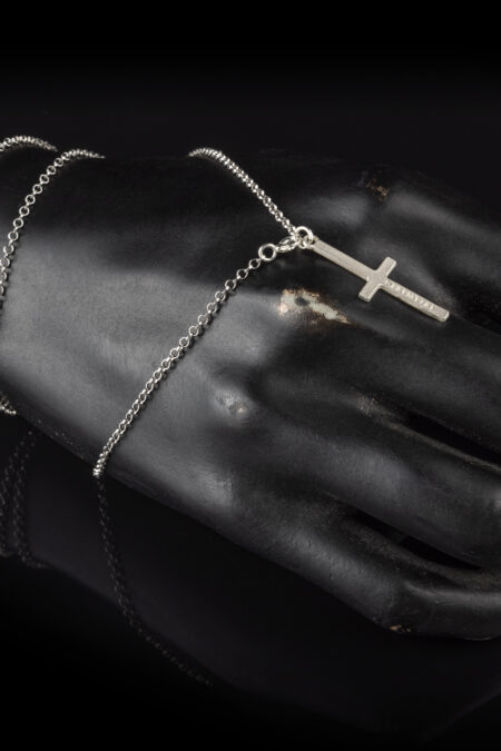 Deafmetal statement cross can be worn by people who want to support Deafmetal and the deaf and hard of hearing communities