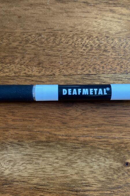 premium Deafmetal pen that can be purchased to support Deafmetal and spread the word of our Deafmetal brand