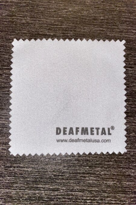 Deafmetal cleaning cloth used to clean jewelry