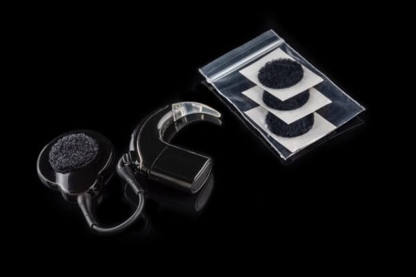 These are Deafmetal USA extra velcro pieces that can be purchased in the round shape to be worn for Deafmetal cochlear implant coil hats