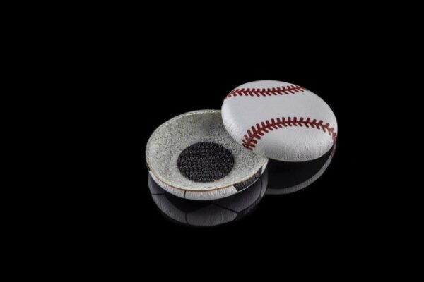 """Baseball cochlear implant coil hat made for children who have hearing loss and wear cochlear implants. This is in Deafmetal USA """"Hope Collection"""""""